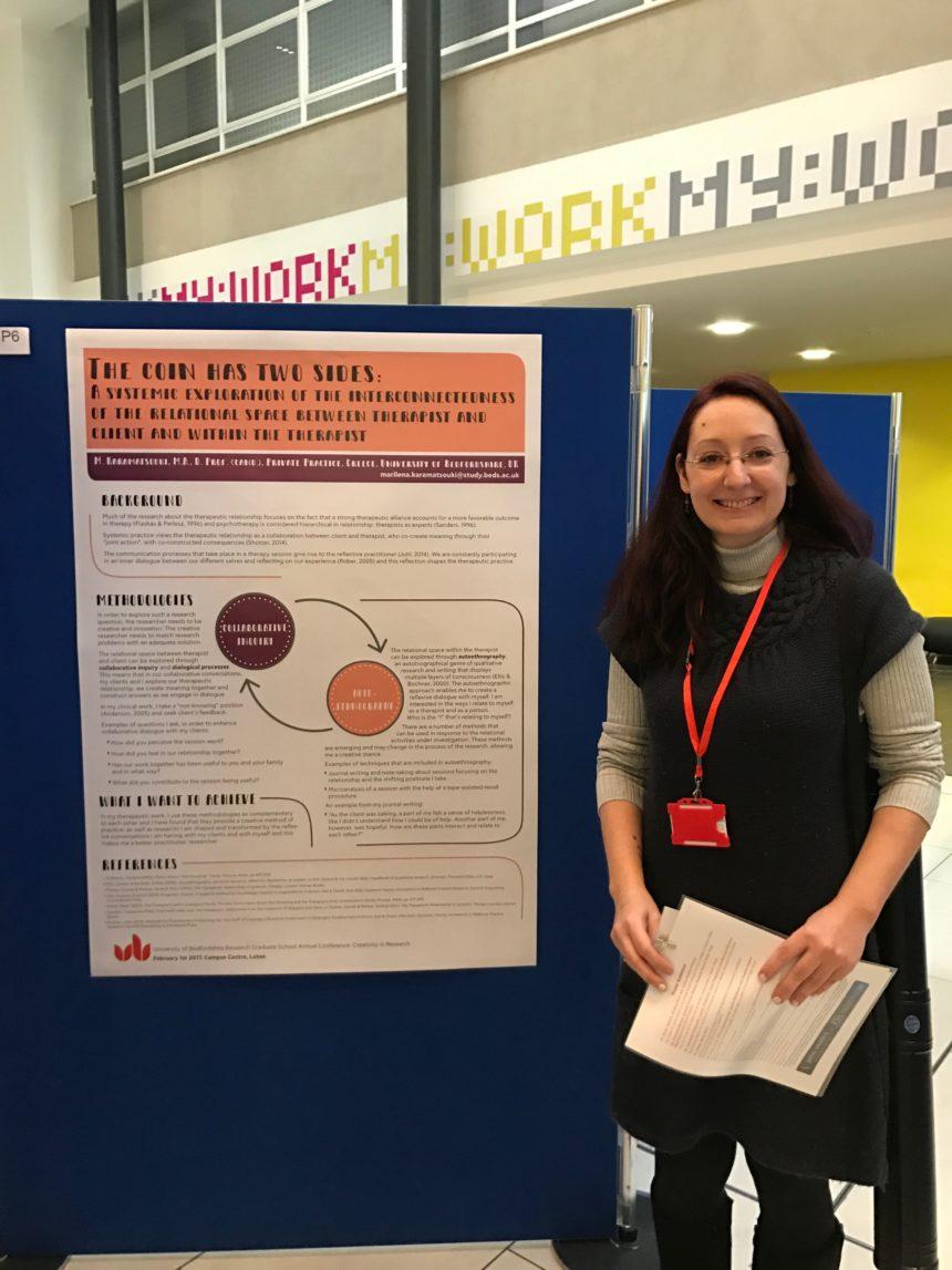 Παρουσίαση poster στο συνέδριο «Creativity in Research», University of Bedfordshire